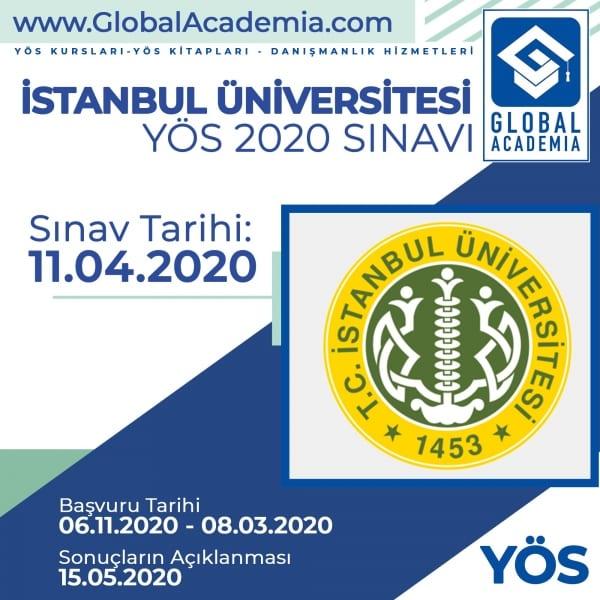 İstanbul Üniversitesi YÖS 2020