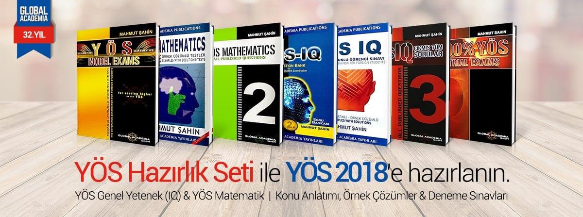 YÖS Kitapları 2018 Satın Al