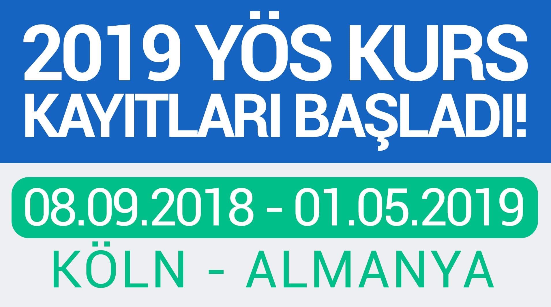 2019 YÖS KURSLARI ALMANYA