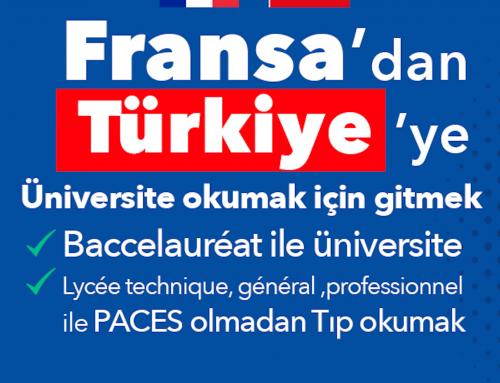 Fransa'dan Türkiye'ye üniversite okumak için gitmek