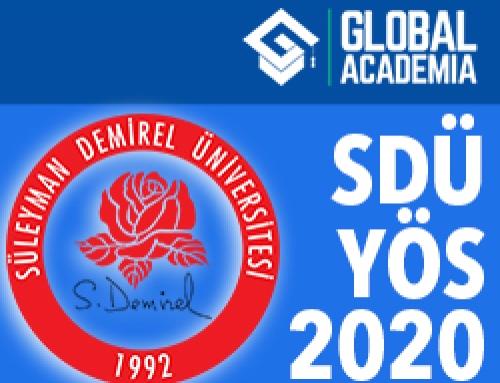 Süleyman Demirel Üniversitesi YÖS 2020 – SDÜ-YÖS 2020 Tarihleri
