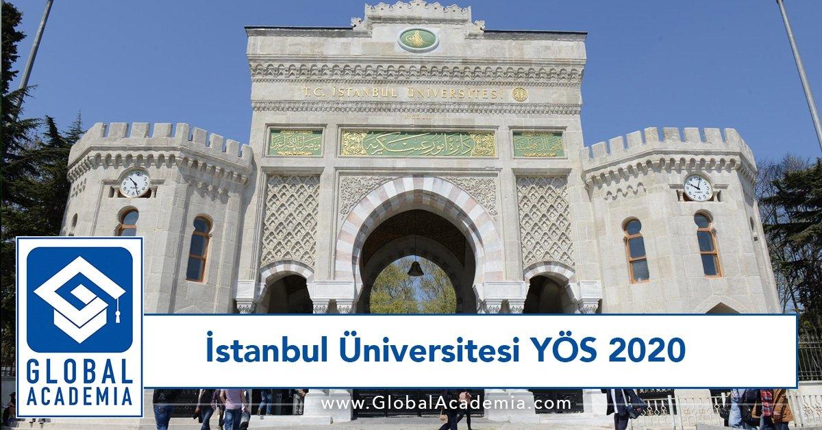 istanbul üniversitesi yös 2020