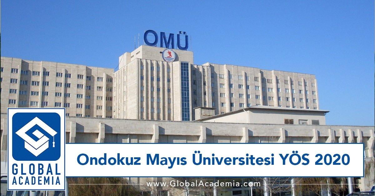ondokuz mayıs üniversitesi yös 2020