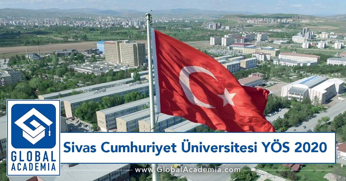 Sivas Cumhuriyet Üniversitesi YÖS 2020