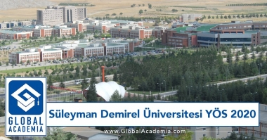 Süleyman Demirel Üniversitesi YÖS 2020