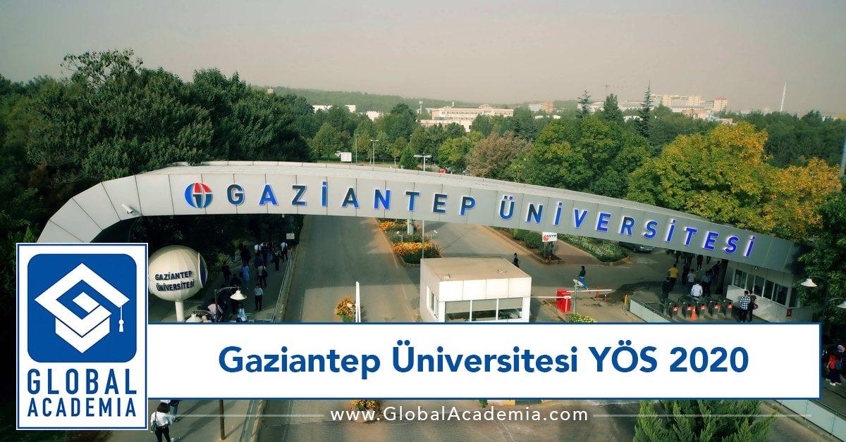 Gaziantep Üniversitesi YÖS 2020
