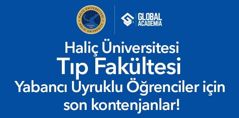 haliç üniversitesi tıp fakültesi yabancı öğrenci